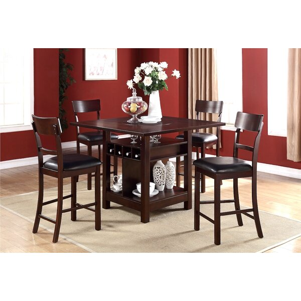 Stevenson 5 Piece Pub Table Set by Canora Grey