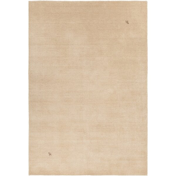 Stockstill Hand-Knotted Beige Area Rug by Latitude Run