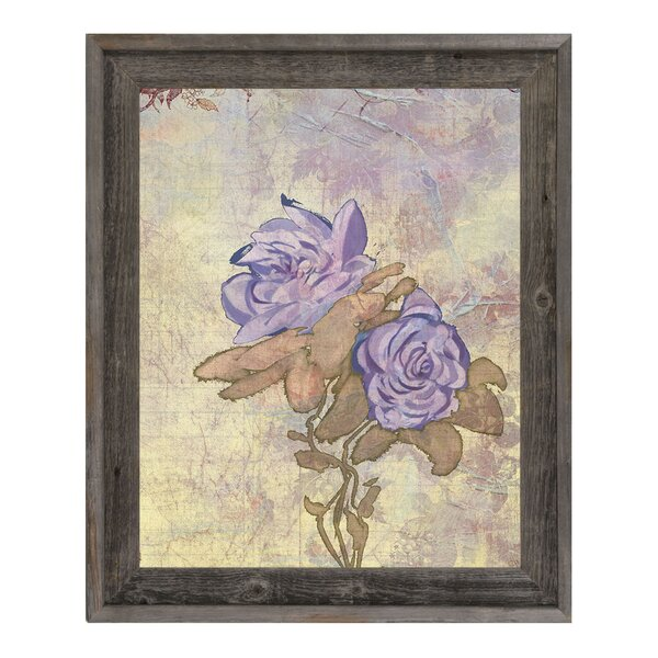 Nostalgic Mauve Twins Framed Graphic Art on Canvas by Click Wall Art