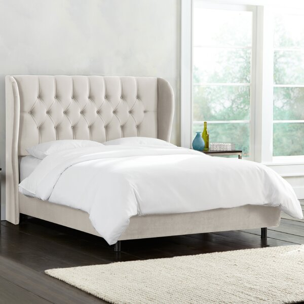 Wamsley Tufted Wingback Linen Upholstered Standard Bed by Brayden Studio