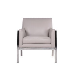 North Leather Armchair by Everly Quinn