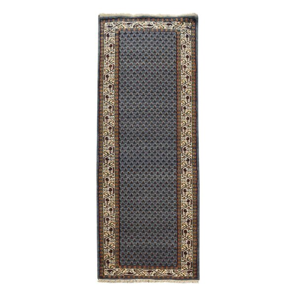 Shephard Hand-Woven Wool Blue Area Rug by Astoria Grand