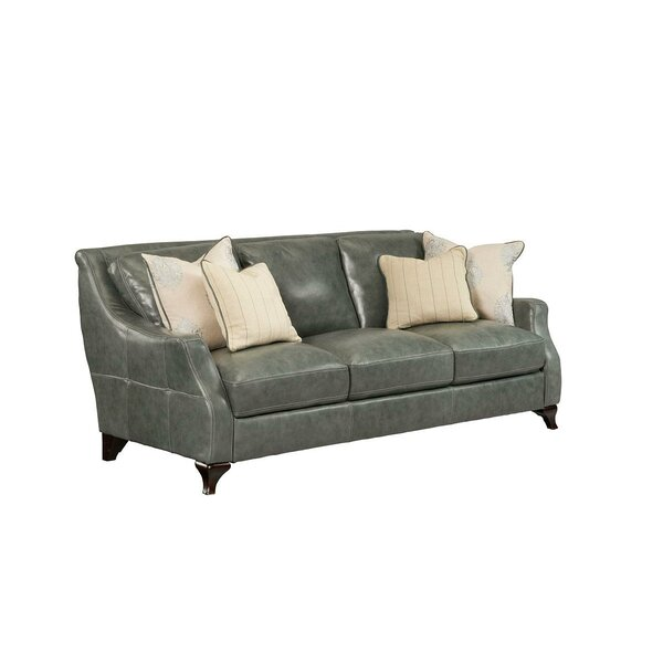 Broadcommon Leather Sofa by Darby Home Co
