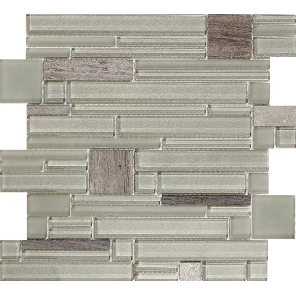 Entity Glass/Stone Mosaic Tile in Energy by Emser Tile