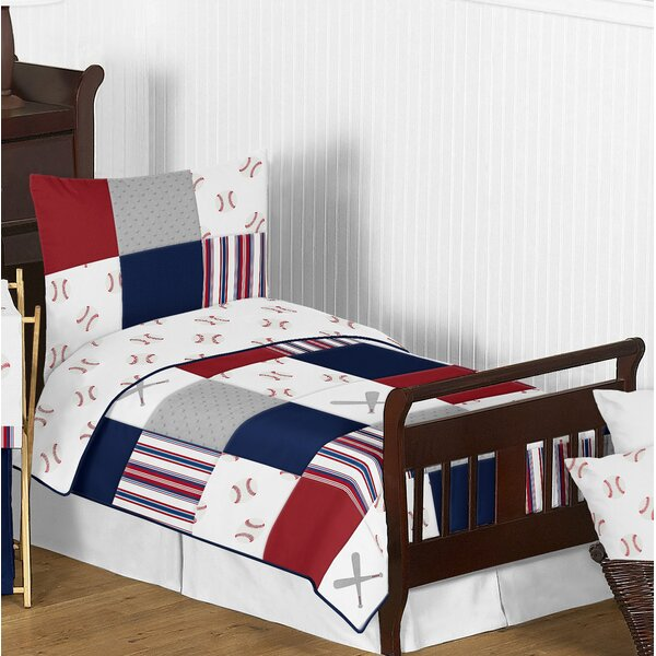 Baseball Patch 5 Piece Toddler Bedding Set by Sweet Jojo Designs