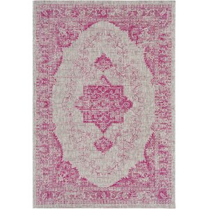 Fonwhary Floral and Plants Bright Pink Indoor/Outdoor Area Rug