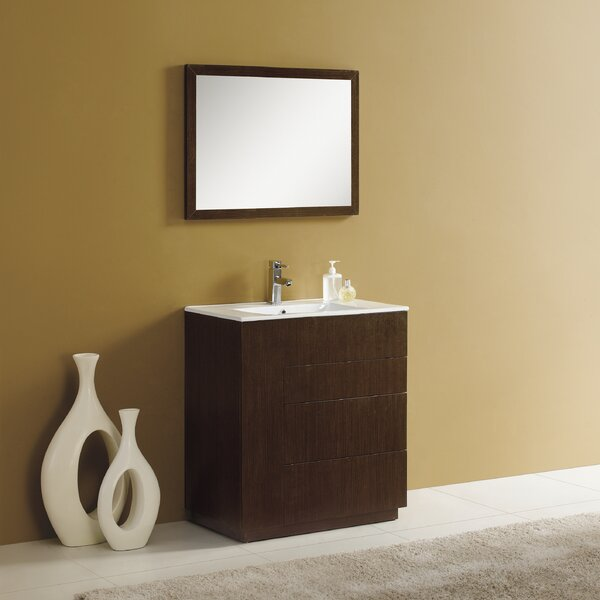 Cosmo 36 Single Vanity Set with Mirror by AdornusCosmo 36 Single Vanity Set with Mirror by Adornus