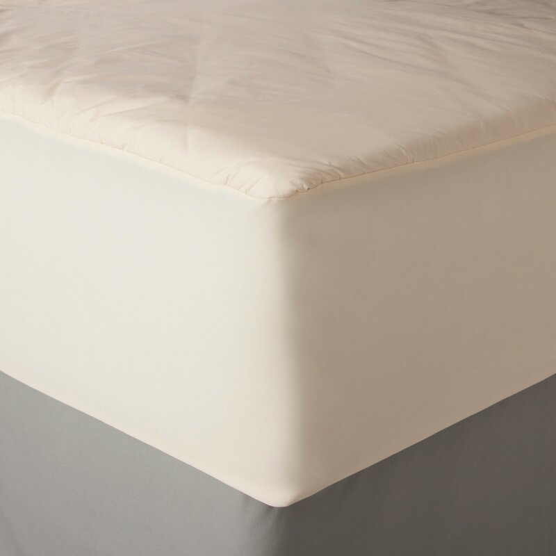 Aller-Ease 2-in-1 Mattress Pad with Removable Hot Water Washable Top Pad Full