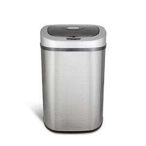 Steel 21.1 Gallon Motion Sensor Trash Can