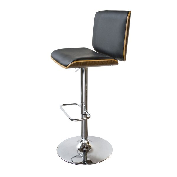Vanwyk Adjustable Height Swivel Bar Stool by Wrought Studio