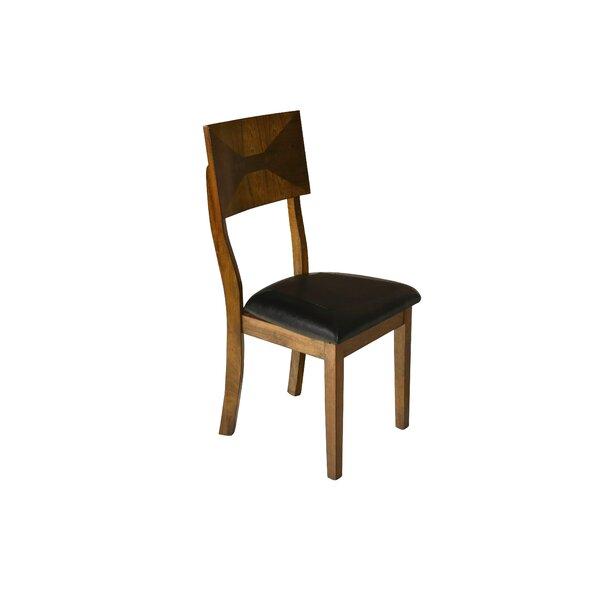 Lenka Solid Wood Side Chair In Black (Set Of 2) By Red Barrel Studio