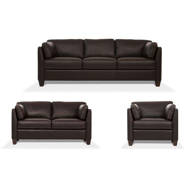 Home Décor Arina 3 Piece Leather Living Room Set