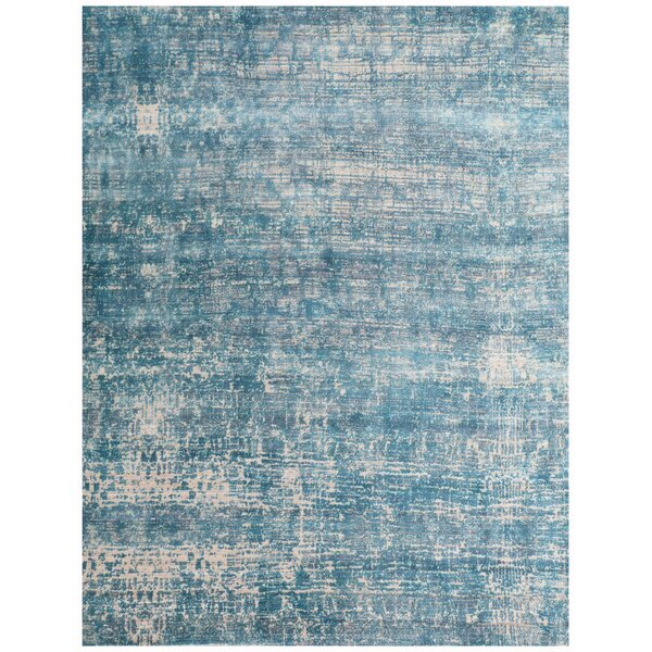 Reflections Hand-Woven Teal Area Rug by Exquisite Rugs