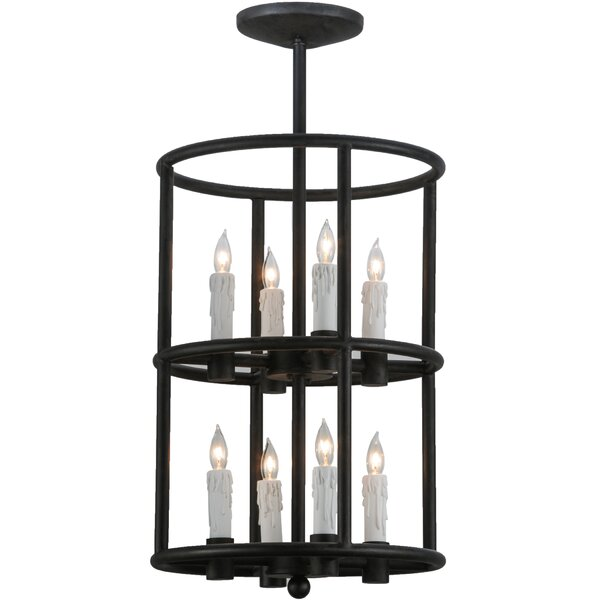Cilindro 8 - Light Lantern Geometric Chandelier by Meyda Tiffany Meyda Tiffany