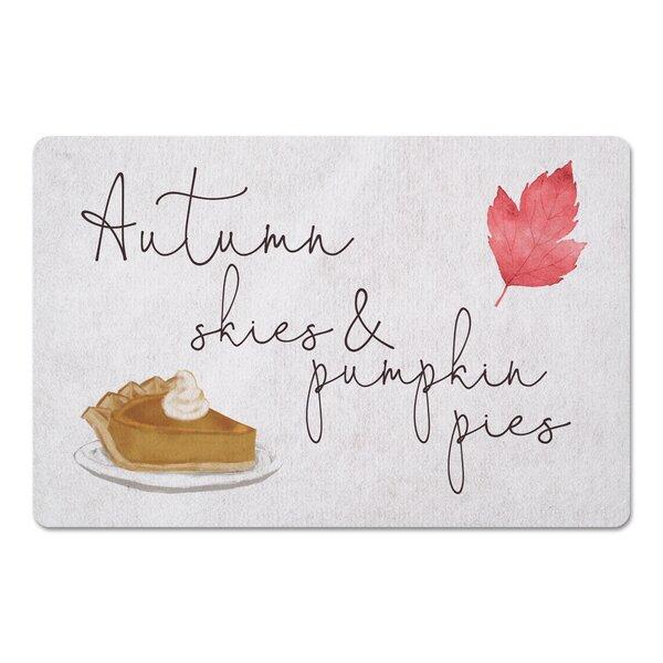 Indus Autumn Skies and Pumpkin Pies Kitchen Mat