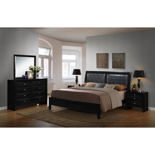 Plumwood Platform Solid Wood 5 Piece Bedroom Set By Red Barrel Studio by Red Barrel Studio 2020 Sale