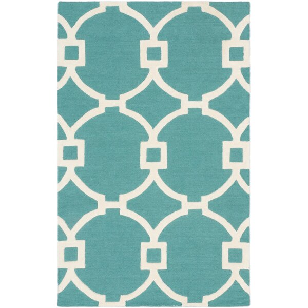 Sherly Hand-Tufted Wool Cream Area Rug by Everly Quinn