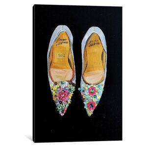 Bejeweled Christian Louboutin Painting Print on Wrapped Canvas by House of Hampton