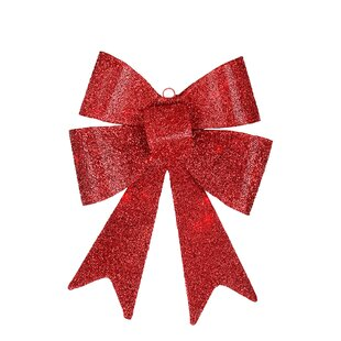 led lighted battery operated vibrant red bow christmas decoration