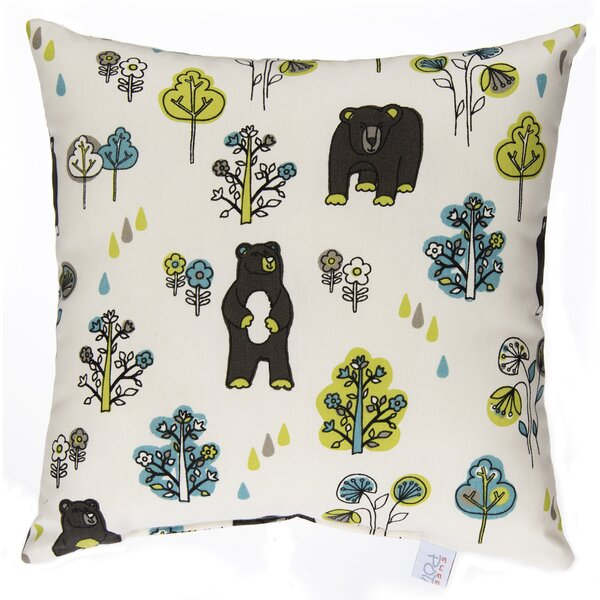 Algoma Bears Cotton Throw Pillow by Harriet Bee
