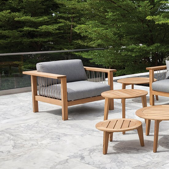 Maro Teak Patio Chair with Cushions by OASIQ