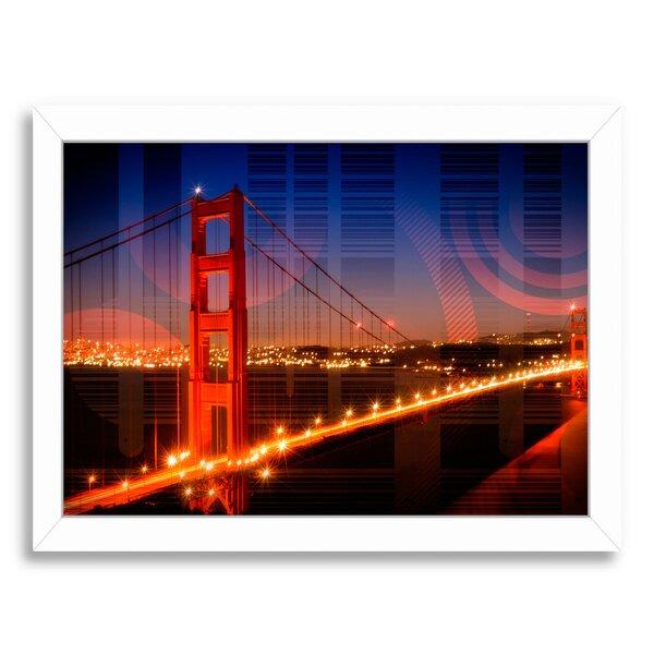 Golden Gate Bridge Geometric Mix No.1 Framed Photographic Print by East Urban Home