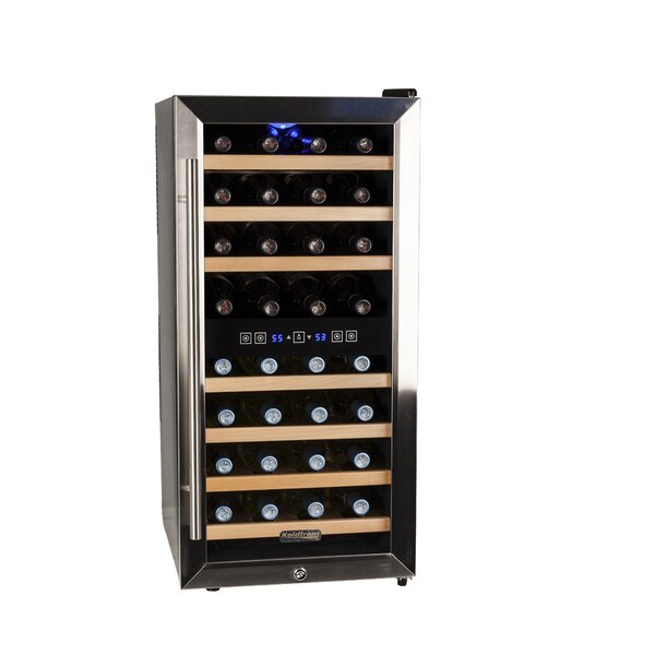32 Bottle Dual Zone Freestanding Wine Refrigerator By Koldfront