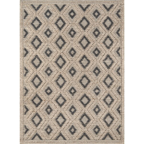 Elissa Hand-Woven Beige Area Rug by Gracie Oaks