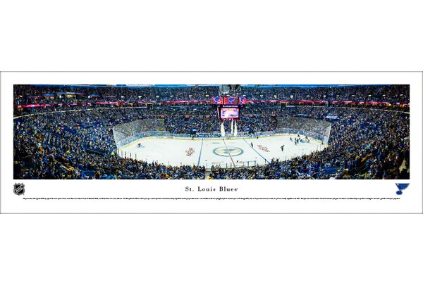 NHL St. Louis Blues Center Ice Photographic Print by Blakeway Worldwide Panoramas, Inc