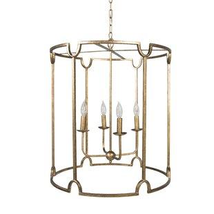 Extra large foyer chandelier wayfair stella 4 light foyer drum chandelier aloadofball Image collections