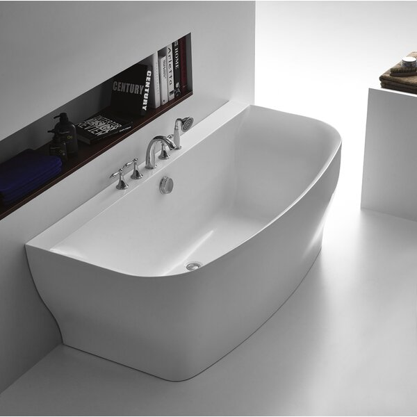 Bank Series 65 X 31 Freestanding Soaking Bathtub By Anzzi.
