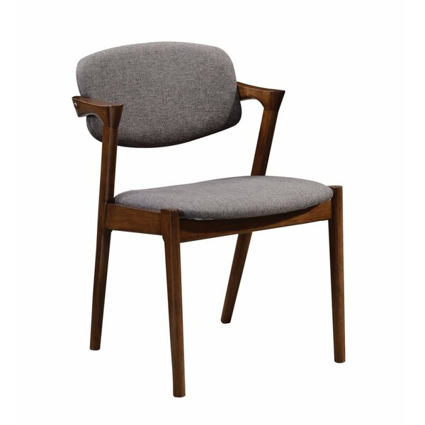 Durrah Wooden Upholstered Dining Chair (Set of 2) by George Oliver