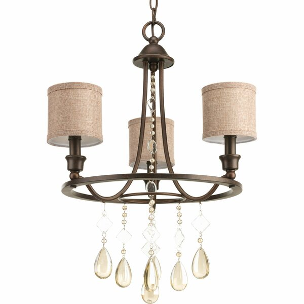 Citlali 3-Light Shaded Wagon Wheel Chandelier By Darby Home Co