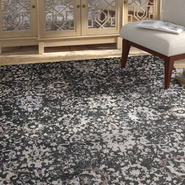 Arabelle Onyx Area Rug by Bungalow Rose