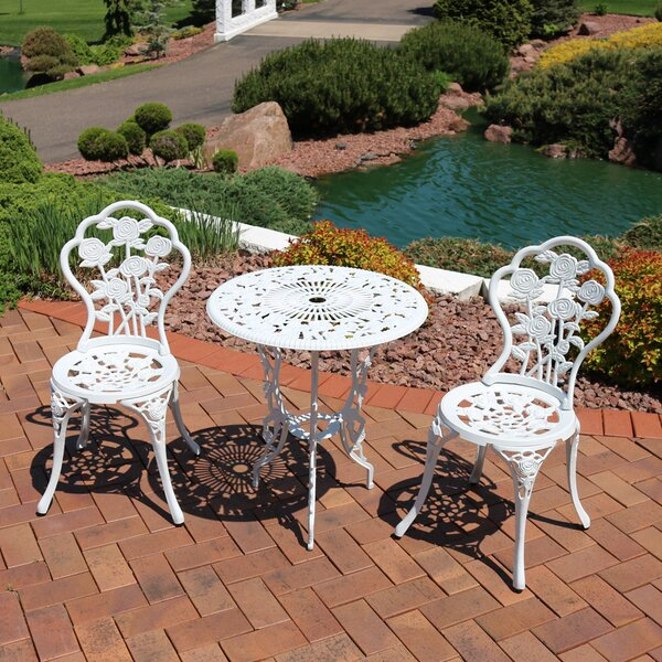 Montour Cast Aluminum Piece Bistro Set by Ophelia & Co.