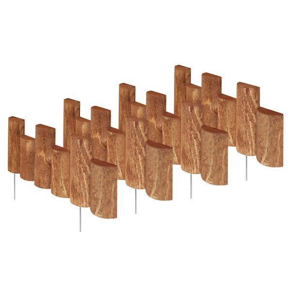 7 in. H x 18 in. W 4 Pack Half Log Edging (Set of 4) by Greenes Fence