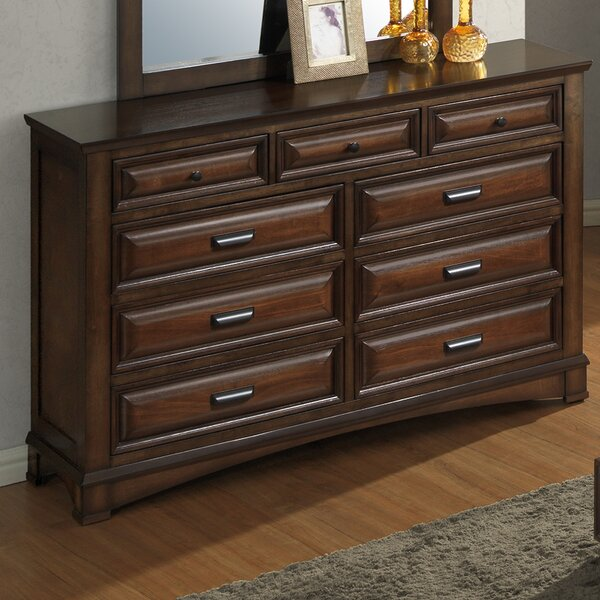 North Adams 9 Drawer Dresser by Charlton Home