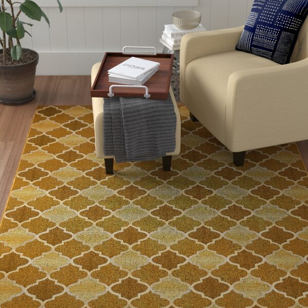 Alice Gold Indoor/Outdoor Area Rug by Winston Porter