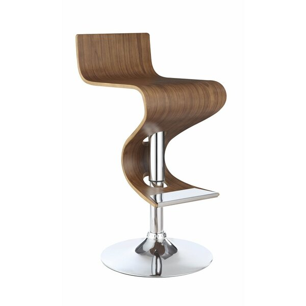 Hunsberger Adjustable Height Swivel Bar Stool by Wrought Studio