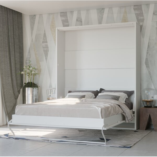Loxley Wall King Murphy Bed with Mattress by Orren Ellis