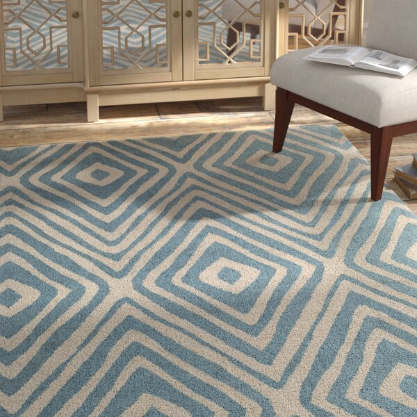 Juhasz Hand-Tufted Blue/Beige Area Rug by Bloomsbury Market