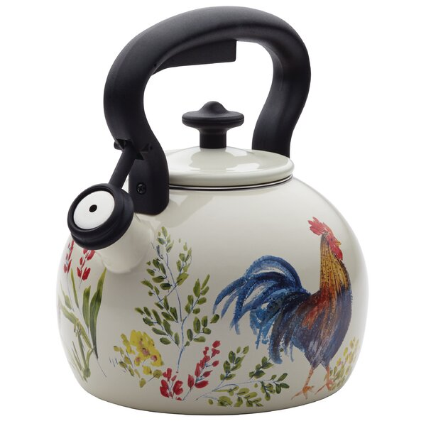 2 Qt. Stainless Steel Whistling Tea Kettle by Paula Deen