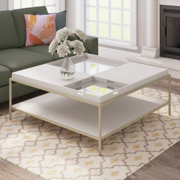 Clontarf Square Coffee Table with Tray Top by Mercer41 Mercer41