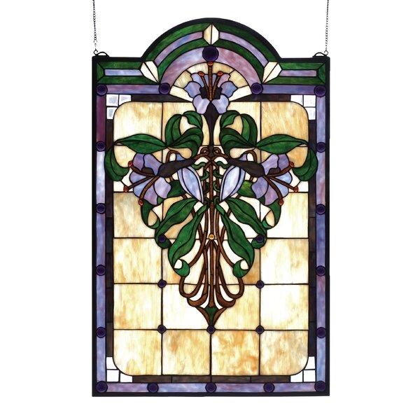 Tiffany Nouveau Lily Stained Glass Window by Meyda Tiffany
