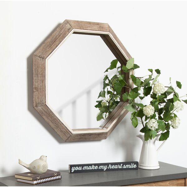 Proctor Large Wooden Octagon Wall Mirror by Union Rustic