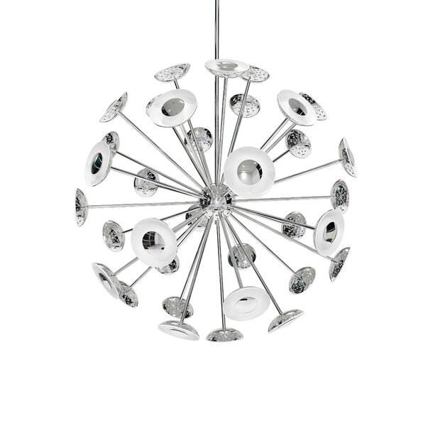 Dot 24-Light Sputnik Sphere Chandelier By Blackjack Lighting
