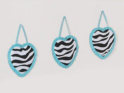 3 Piece Zebra Wall Hanging Set by Sweet Jojo Designs