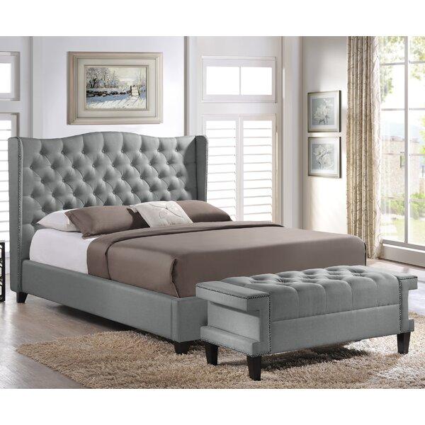 Licata Upholstered Platform Bed and Bench Set by Rosdorf Park