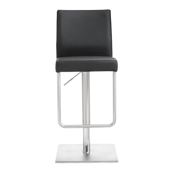 Carly Adjustable Height Swivel Bar Stool by Orren Ellis