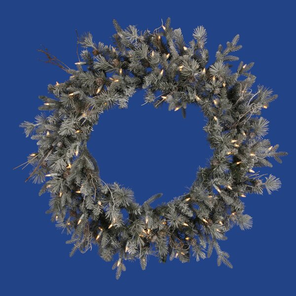 36 Lighted Artificial Frosted Wistler Fir Christmas Wreath by Vickerman